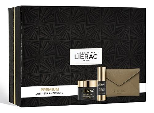 Lierac Cofanetto Regalo Premium Crema Voluptueuse 50 ml + Premium Occhi 15 ml + Pochette Rue des Fleurs omaggio - Farmastar.it