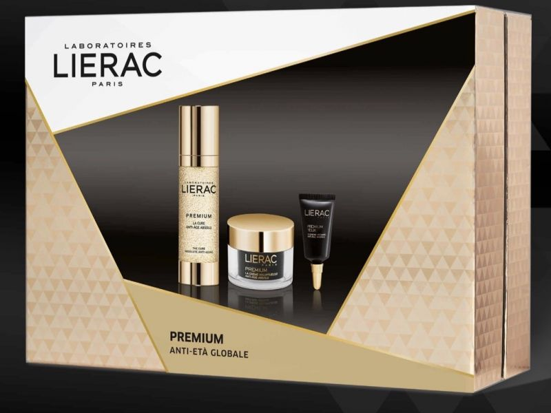 LIERAC COFANETTO  PREMIUM CURE SIERO 30 ML + PREMIUM VOLUPTUOSE 15 ML + PREMIUM OCCHI 3 ML - Farmastar.it