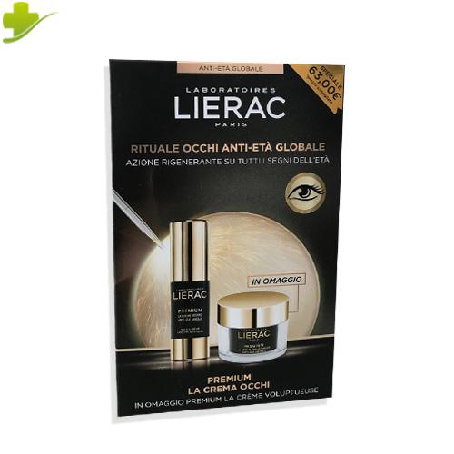 LIERAC COFANETTO ANTI ETA' PREMIUM OCCHI 15 ML + PREMIUM CREMA VOLUPTUEUSE 15 ML  - Farmastar.it