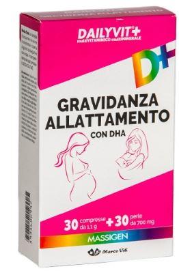 Massigen Dailyvit+ Gravidanza E Allattamento 30 Compresse + 30 Perle - Farmacia 33