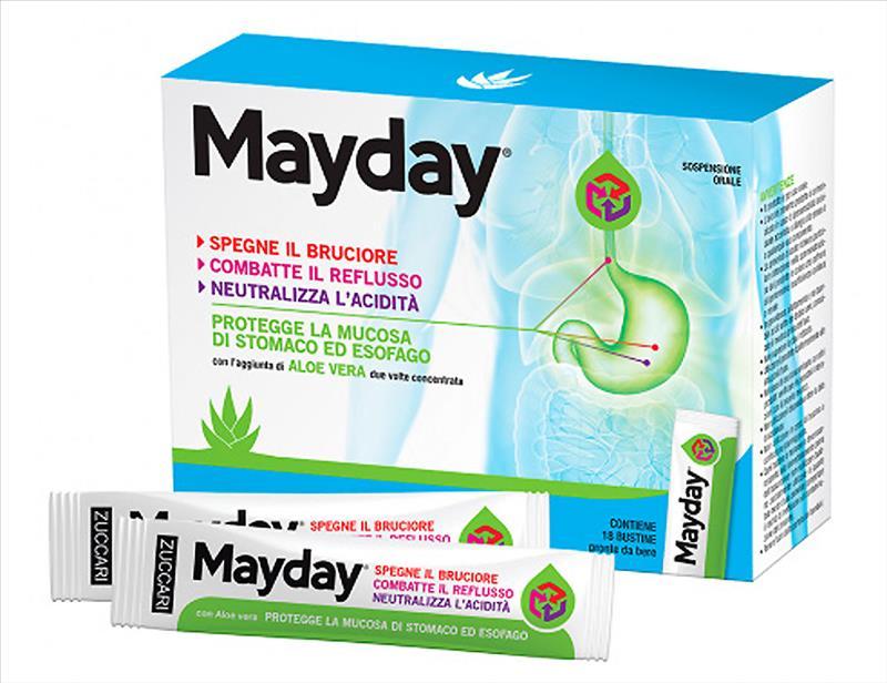 Zuccari Mayday Gastroprotettore Reflusso e Acidità di Stomaco 18 Stick da Bere - La tua farmacia online