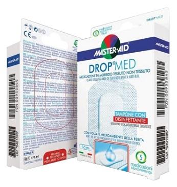 MEDICAZIONE COMPRESSA AUTOADESIVA DERMOATTIVA IPOALLERGENICA AERATA MASTER-AID DROP MED 7X5 5 PEZZI - Farmamille