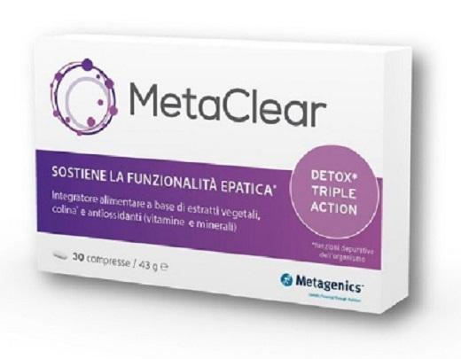 Metagenics Integratore Fegato Metaclear 30 Compresse - Farmastar.it