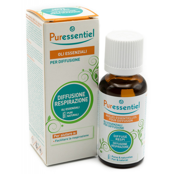 MISCELA RESPIRAZIONE PER DIFFUSIONE 30 ML PURESSENTIEL - Farmacia 33