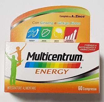 MULTICENTRUM MC ENERGY 60 CAPSULE - Farmalandia