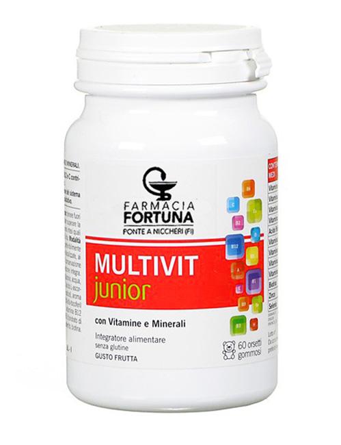TuaFarmaonLine MULTIVITjunior Integratore Vitamine Bambino 60 Orsetti Gommosi - La tua farmacia online