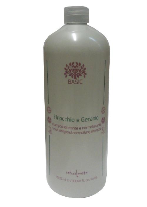 NATURALMENTE SHAMPOO GERANIO E FINOCCHIO 1000ML - Farmacento