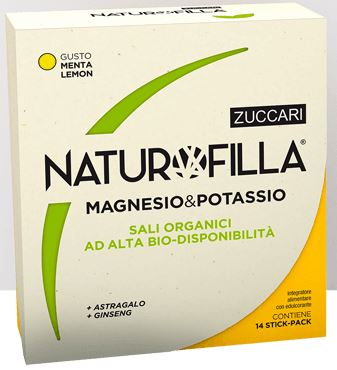 NATUROFILLA MAGNESIO & POTASSIO GUSTO MENTA-LEMON 14 STICK PACK - Farmacia 33
