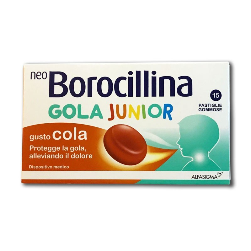 NEOBOROCILLINA GOLA JUNIOR 15 PASTIGLIE GOMMOSE - Farmacento