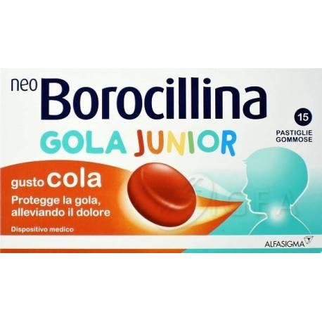 NEOBOROCILLINA GOLA JUNIOR 15 PASTIGLIE GOMMOSE - Farmalandia