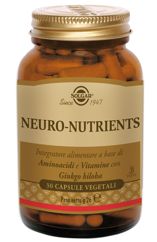 Solgar Neuro-Nutrients 30 Capsule Vegetali - Farmacia 33