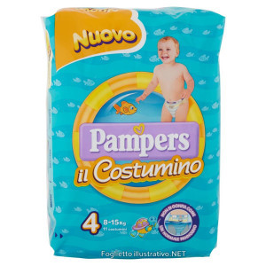 PAMPERS COSTUMINO CP 11 TG4 TG 4 11 PEZZI - Farmamille