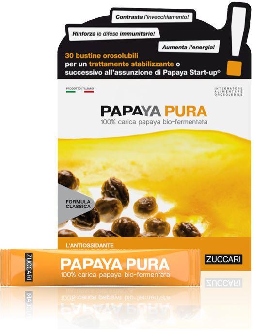 Zuccari Papaya Pura Bio-Fermentata 30 Stick Pack + 15 Stick Pack Omaggio - Farmacia 33