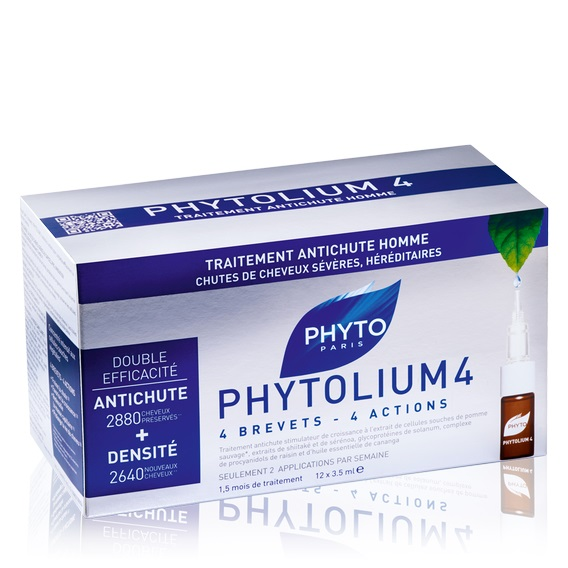 Phyto Phytolium4 Fiale Anticaduta Uomo per la caduta dei capelli, 12 fiale - Farmamille