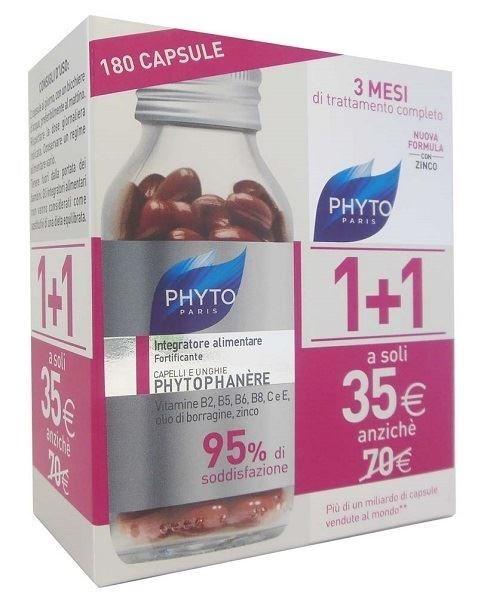 Phyto  Phytophanere  Rinforzante Capelli E Unghie Integratore Alimentare 90+90 Capsule - Farmamille