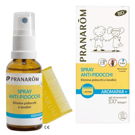 PRANAROM AROMAPAR+ BIO SPRAY ANTI PIDOCCHI E LENDINI + PETTINE IN PLASTICA - Farmamille