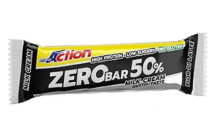 ProAction Zero Bar 50% Barretta Proteica Gusto Fior Di Latte 60 g - La tua farmacia online