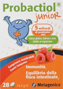 PROBACTIOL JUNIOR 28 COMPRESSE MASTICABILI NEW - Farmamille