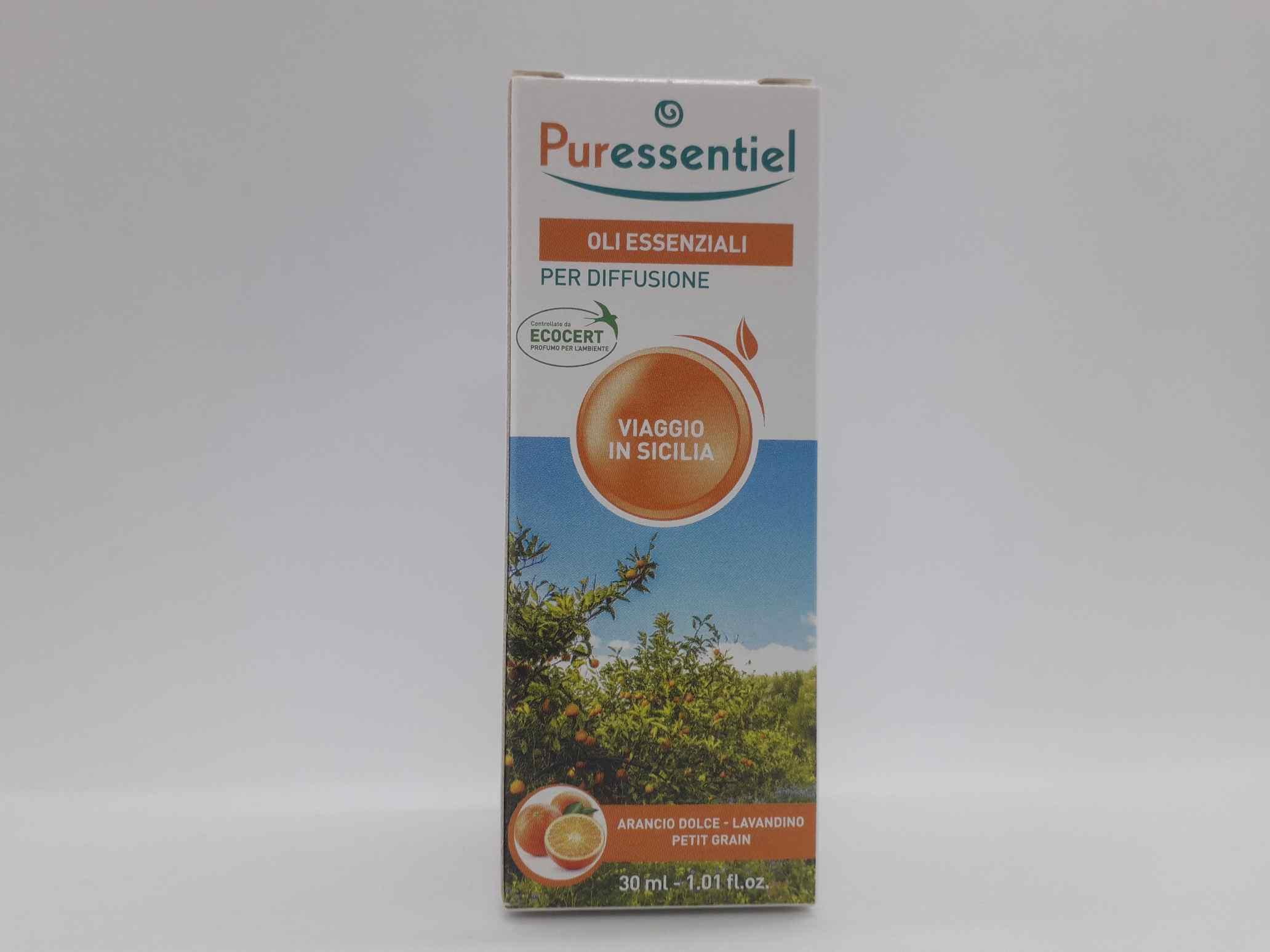PURESSENTIEL MISCELA DIFFUSIONE VIAGGIO SICILIA 30 ML - Farmaciaempatica.it