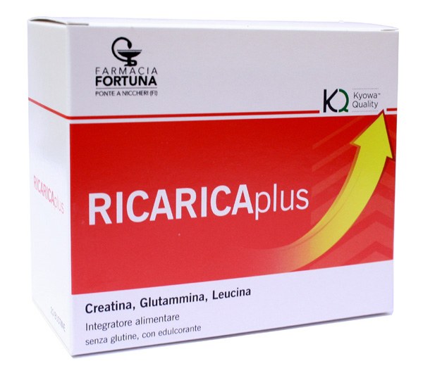 TuaFarmaOnline RicaricaPlus Integratore Creatina Glutammina Leucina 20 bustine - La tua farmacia online
