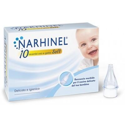 RICARICA USA E GETTA PER ASPIRATORE NASALE NARHINEL 10 PEZZI SOFT  - Farmamille