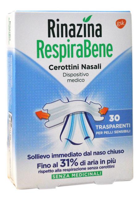 Rinazina Respirabene Cerotti Nasali Trasparenti Carton 30 Pezzi - Farmalilla