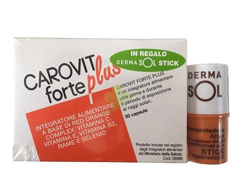 Carovit Forte Plus  30 compresse + Derma sol stick  protezione alta spf 30 - Zfarmacia