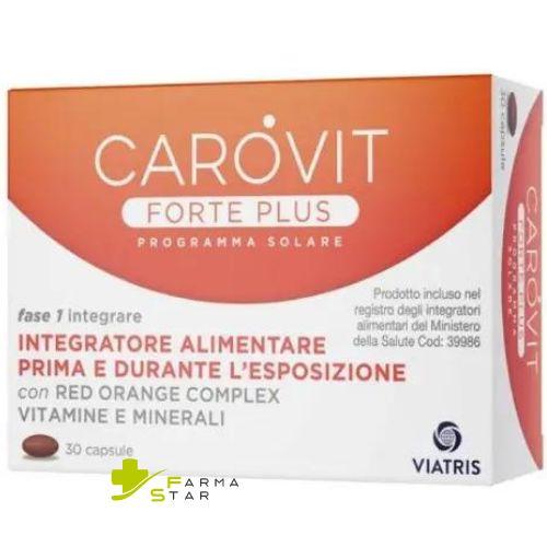 Rottapharm Carovit Forte Plus Esposizione Solare Nuova Formula Potenziata Integratore Alimentare 30 Compresse +Stick solare omaggio - Farmastar.it