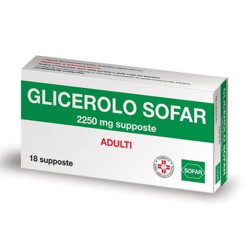 Sofar Glicerolo Adulti 2250mg Lassativo 18 Supposte - La tua farmacia online