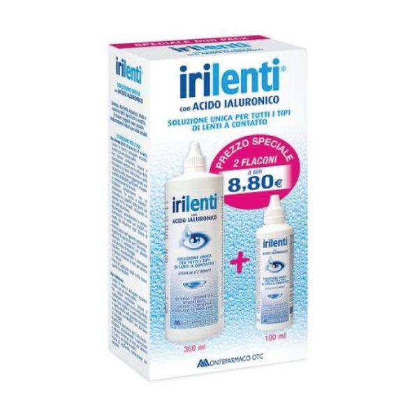 Soluzione Per Lenti a Contatto Irilenti Duo Pack 360ml + 100ml - La tua farmacia online