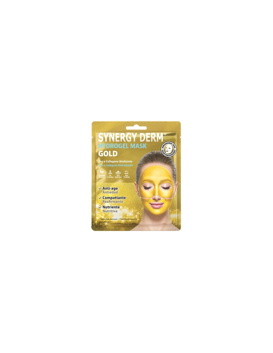 PLANET PHARMA SYNERGY DERM HYDROGEL MASK GOLD - Farmastar.it