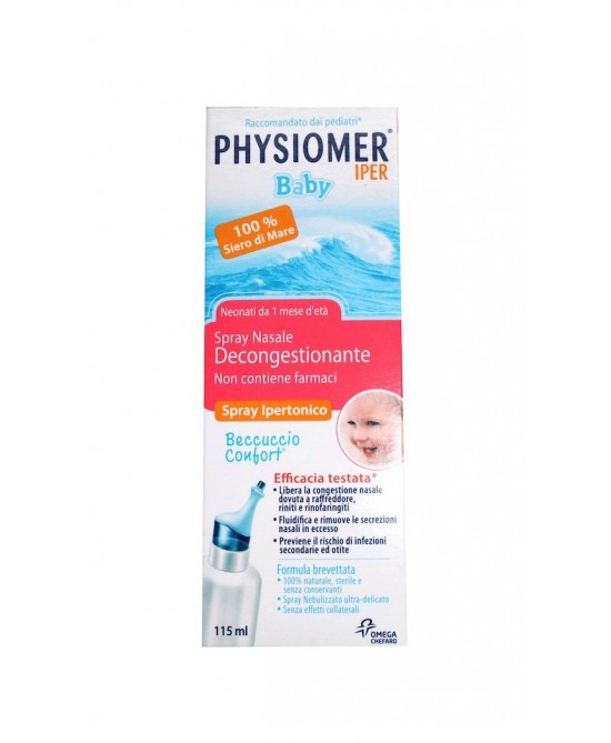 Physiomer Iper Baby Spray Nasale Ipertonico Decongestionante 115 ml - La tua farmacia online