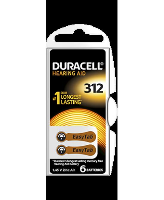 Duracell Easy Tab 312 Colore Marrone Batterie Per Apparecchi Acustici - Farmawing