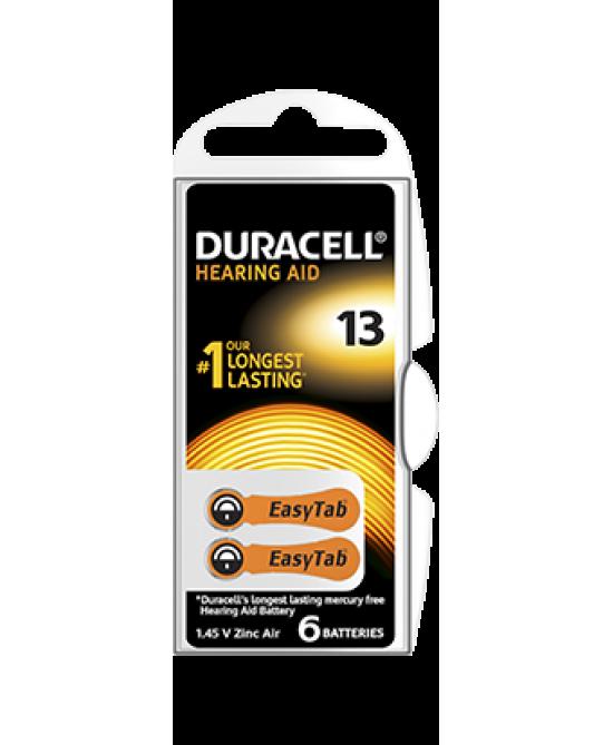 Duracell  Easy Tab 13 Colore Arancio Batterie Per Apparecchi Acustici - Farmacia 33