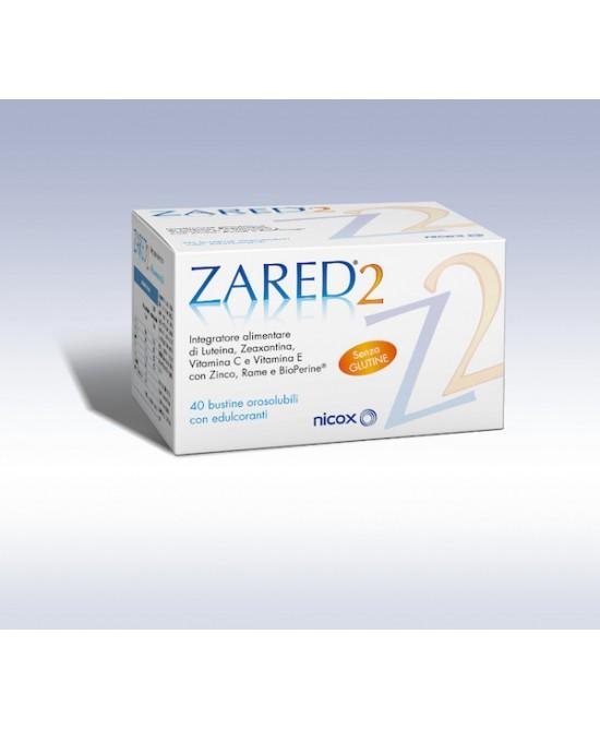 Zared 2 Integratore Alimentare 40 Stick Pack - Zfarmacia