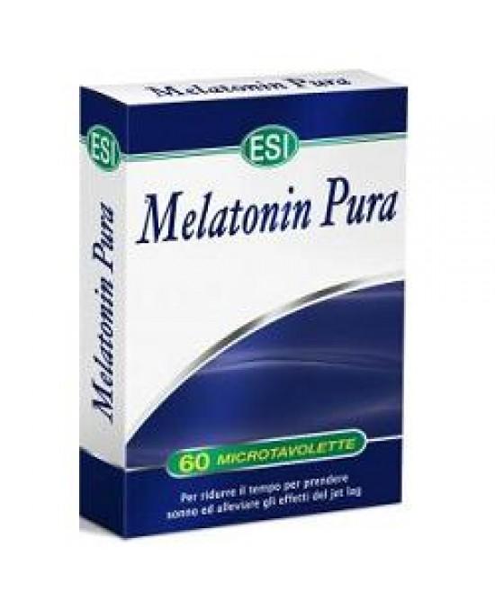 Esi Melatonin Pura 60 Microtavolette - Parafarmaciabenessere.it