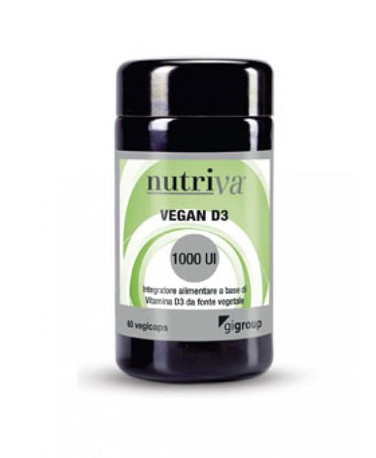 Nutriva Vegan D3 Integratore Alimentare 60 Compresse Masticabili - farma-store.it