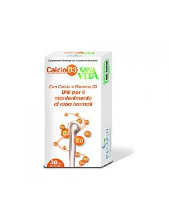 Paladin Pharma SanaVita CalcioD3 Integratore Alimentare 30 Compresse - Farmastar.it