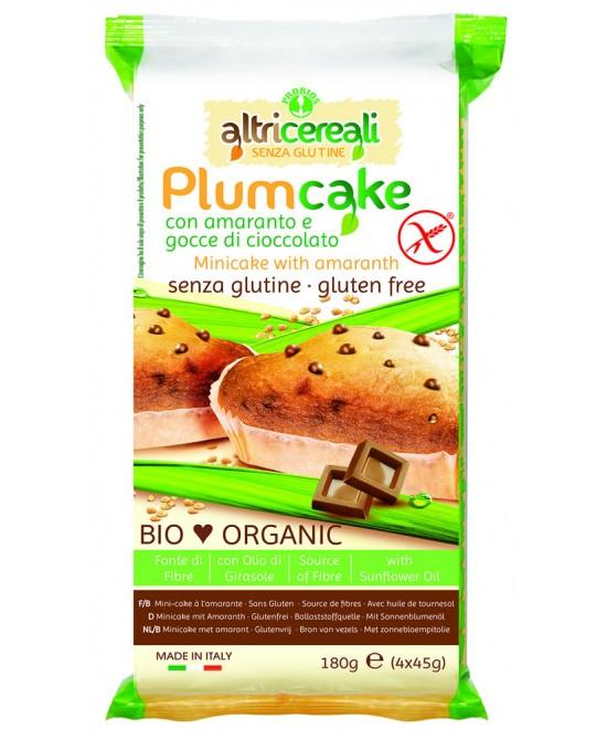 Altri Cereali Plumcake Con Amaranto E Gocce Di Cioccolato Bio Senza Glutine 180g - farma-store.it
