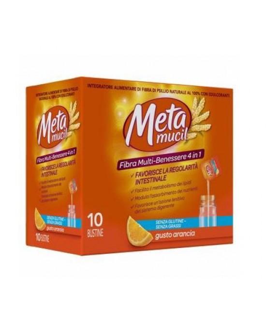 Metamucil Fibra Multi- Benessere Integratore Alimentare Arancia 10 Bustine - Zfarmacia