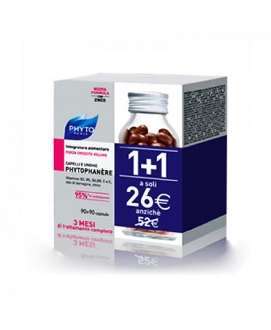 Phyto  Phytophanere  Rinforzante Capelli E Unghie Integratore Alimentare 90+90 Capsule - Farmacia 33