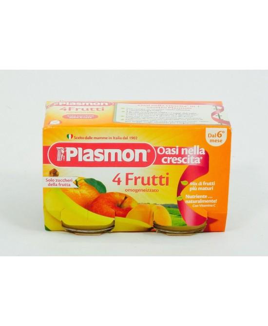 Plasmon Omogeneizzato 4 Frutti 2x104g - Farmaciasconti.it