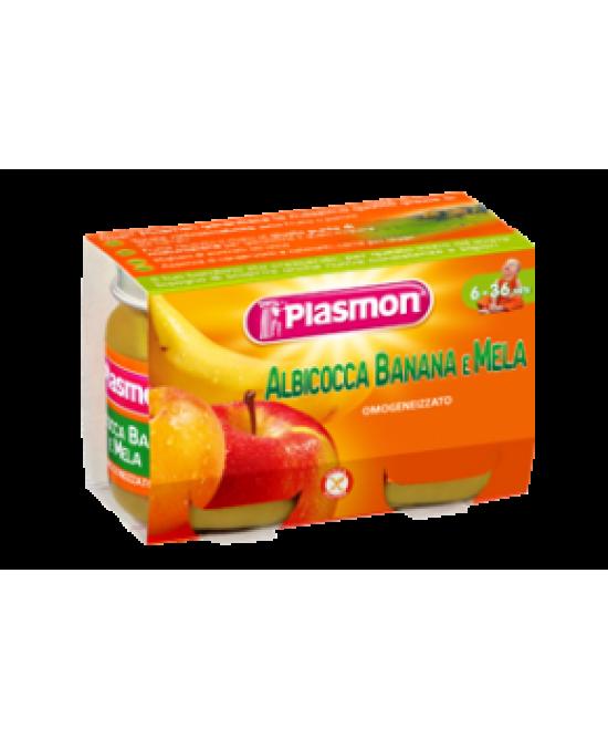 Plasmon Omogeneizzato Di Frutta Albicocca Banana E Mela 2x104g - FARMAEMPORIO