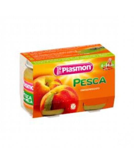 Plasmon Omogeneizzato Di Frutta Pesca 2x104g - FARMAEMPORIO