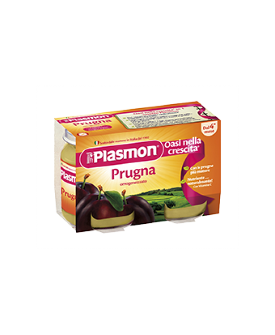 Plasmon Omogeneizzato Di Frutta Prugna 2x104g - Farmaciasconti.it