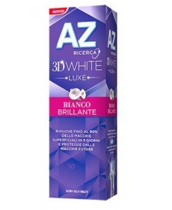 Az Dentifricio 3D White Luxe Bianco Brillante Dentifricio 75ml - Farmamille