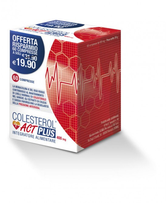 F&F Colesterolo Act Plus Integratore Alimentare 60 Compresse - La tua farmacia online