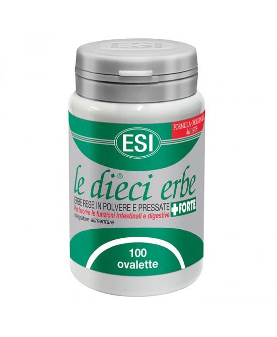 Esi Le Dieci Erbe +Forte Benessere Intestinale 100 Ovalette - La tua farmacia online