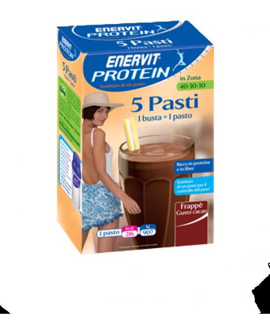 Enervit Protein 5 Pasti Integratore Alimentare Gusto Cacao 5 Buste 53g - FARMAEMPORIO