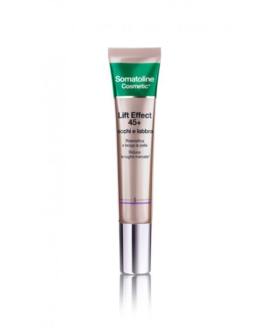 Somatoline Cosmetic Lift Effect 45+ Occhi E Labbra 15ml - Farmabravo.it